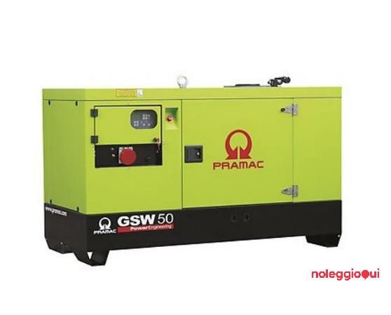 Noleggio GRUPPO ELETTROGENO PRAMAC GSW 50 Y - 46,3 kWA - YANMAR