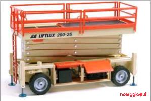 Noleggio Piattaforma verticale a Forbice Diesel Liftlux 260-25