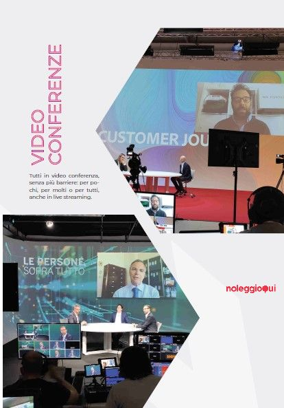Noleggio Eventi streaming, videoconferenze, conferenze stampa