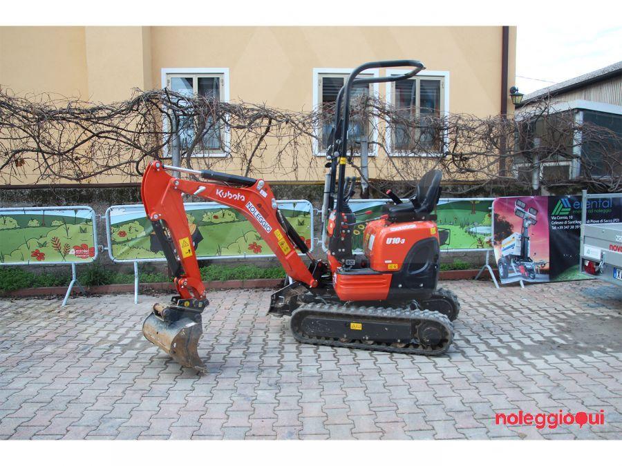 Noleggio Mini-escavatore Kubota U10-3