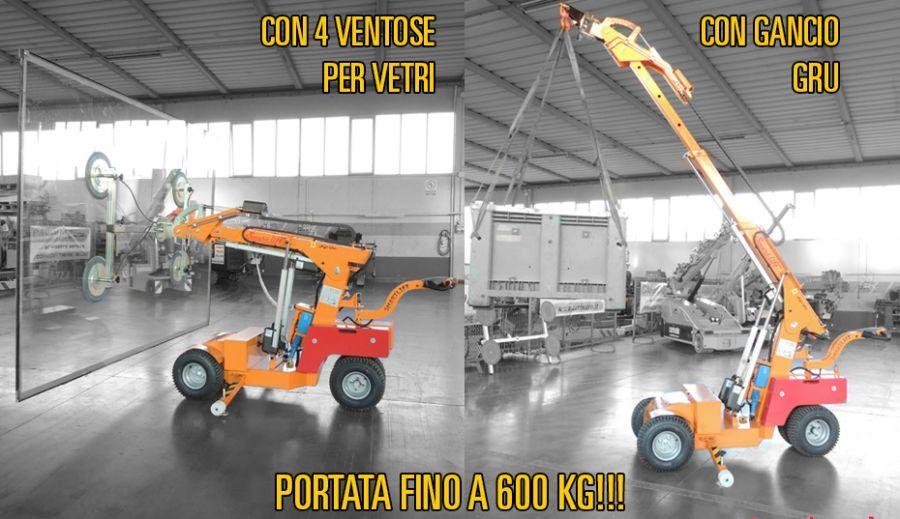 Noleggio SOLLEVATORE ELETTRICO MULTIFUNZIONE GANCIO GRU / VENTOSE