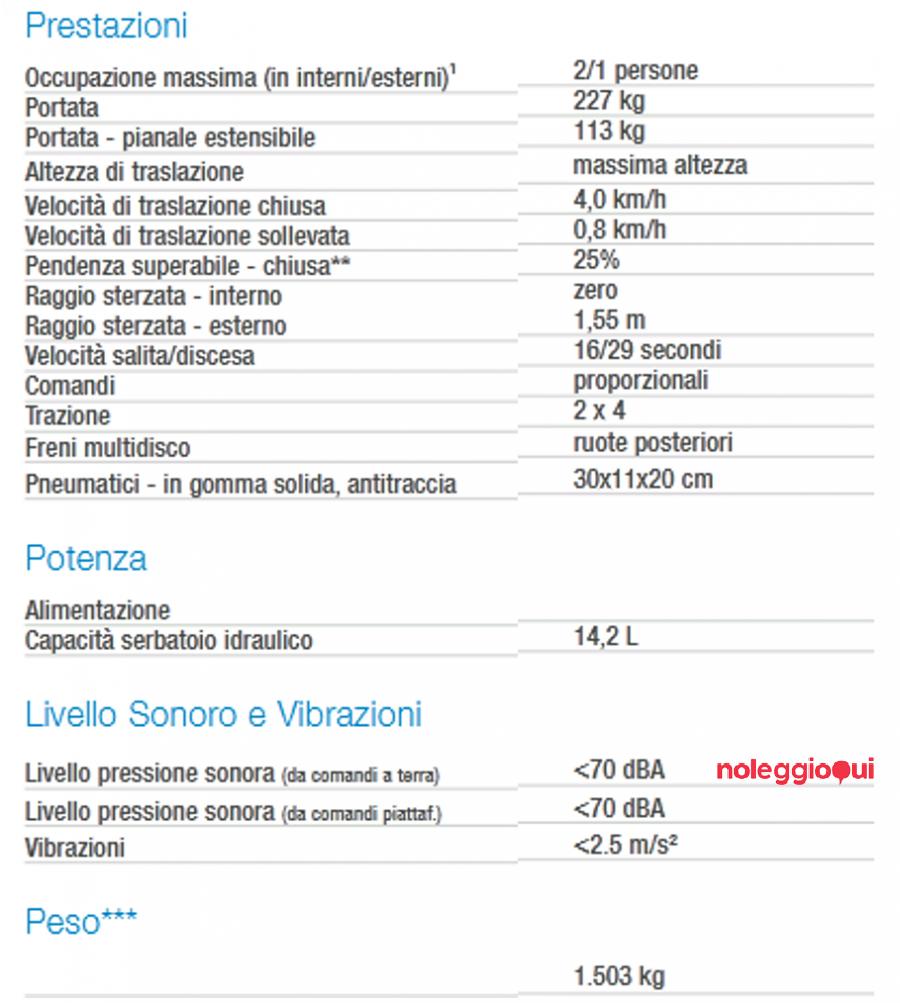 Noleggio PIATTAFORMA SEMOVENTE VERTICALE GS-1932