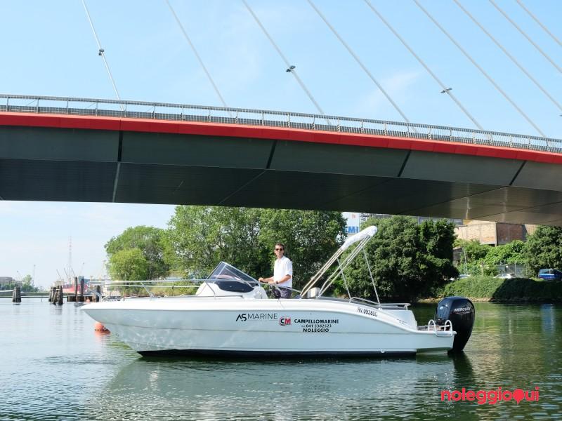 Barca A7 Eolo 22 WA + Mercury F150 EFI (con patente)
