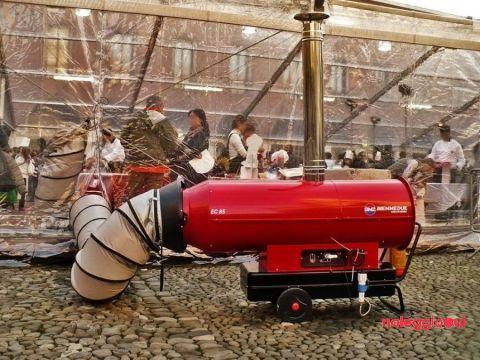 Generatore mobile d'aria calda